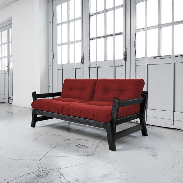 Sofa rozkładana Karup Step Black/Passion Red