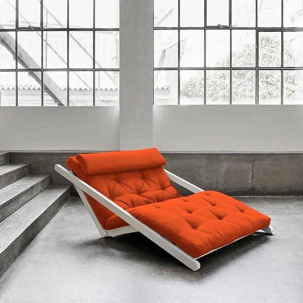 Szezlong Karup Figo, White/Orange, 120 cm