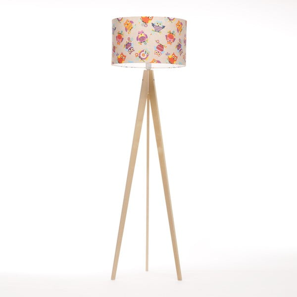 Lampa stojąca Artist Happy Ow Linnenl/Birch Natural, 125x42 cm
