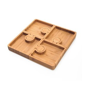Komplet 4 misek do serwowania przekąsek Bambum Karo Puzzle