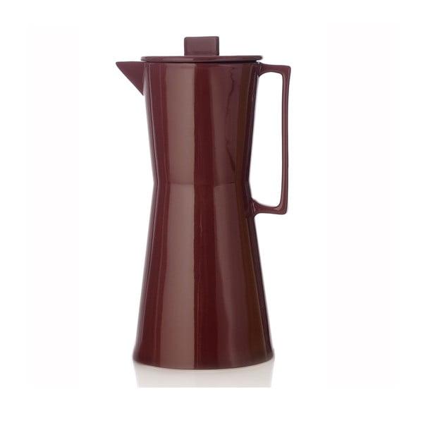 Porcelanowy wazon w kształcie kawiarki Terra Brown