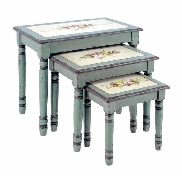 Komplet 3 stolików Genziana