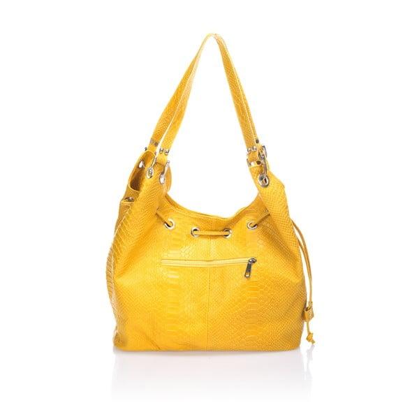 Skórzana torebka Divisa, żółta