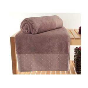 Komplet 2 jasnofioletowych ręczników kąpielowych Patricik Dusty, 90x150 cm