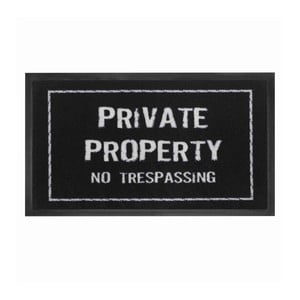 Wycieraczka Private property, 45x75 cm