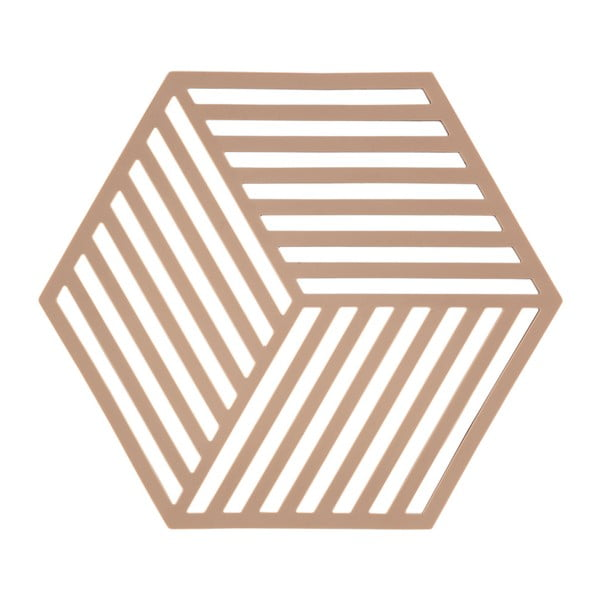 Pomarańczowa podkładka pod gorące naczynia ZONE Hexagon