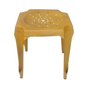 Metalowy stołek retro Gion, żółty