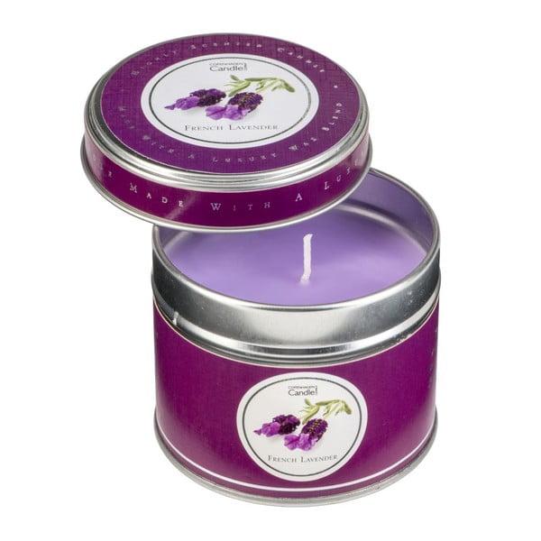 Świeczka zapachowa o zapachu lawendy Copenhagen Candles, czas palenia 32 godz.