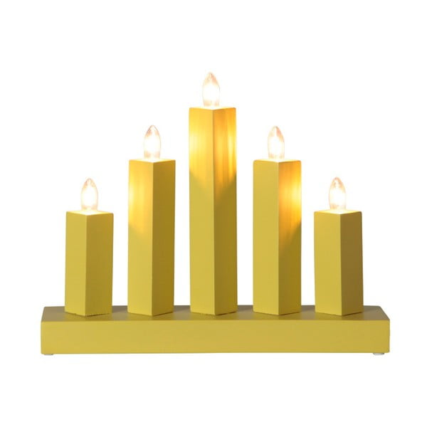 Żółty świecznik LED Rak