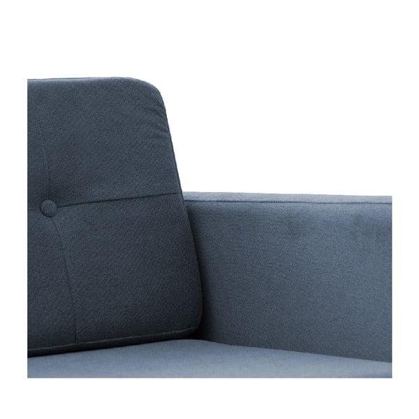 Sofa dwuosobowa VIVONITA Sondero Light Blue, czarne nogi
