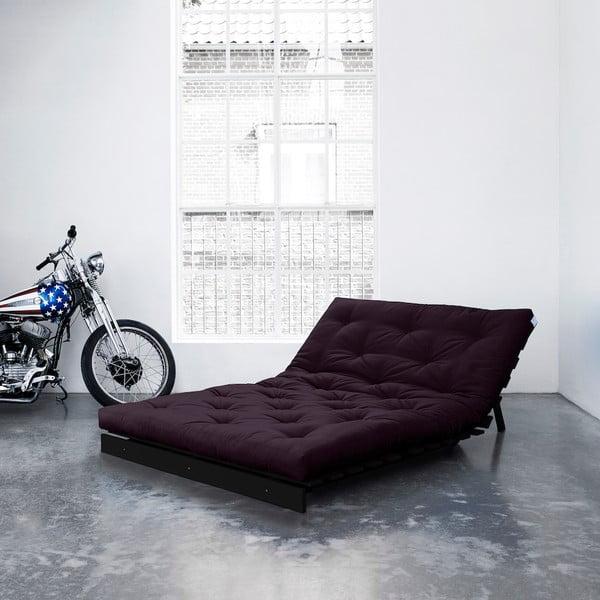 Sofa rozkładana Karup Roots Wenge/Purple