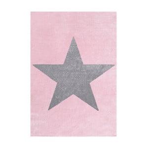 Różowo-szary dywan dziecięcy Happy Rugs Superstar, 80x150 cm