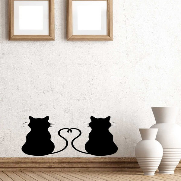 Naklejka winylowa naścienna Koty