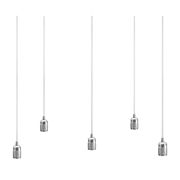 Lampa sufitowa pięcioczęściowa  BI Elementary, srebrna/biała/biała