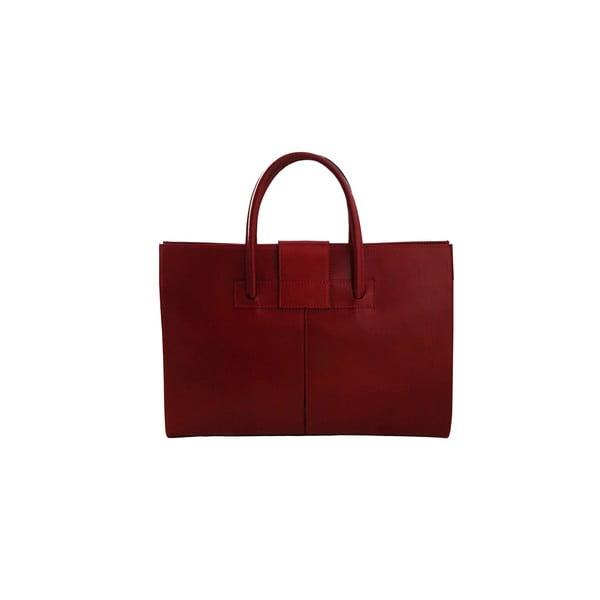 Skórzana torba Montefalco, czerwona