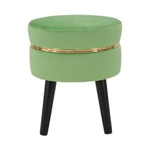 Zelená polstrovaná stolička Mauro Ferretti Paris, ⌀ 35 cm