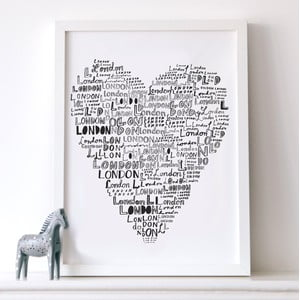 Plakat London Love, 30x40 cm