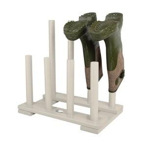 Biały stojak na 4 pary butów z drewna sosnowego Esschert Design