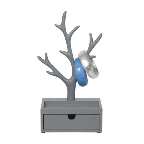 Stojak na biżuterię Tree Drawer Grey