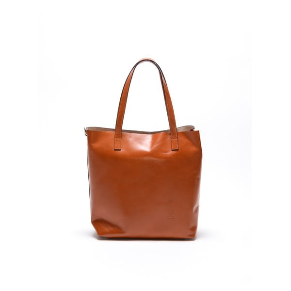 Skórzana torebka Broke 3001 Cognac