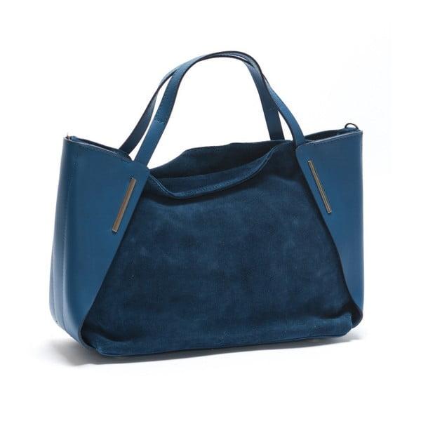 Skórzana torebka Mangotti 878 Blu
