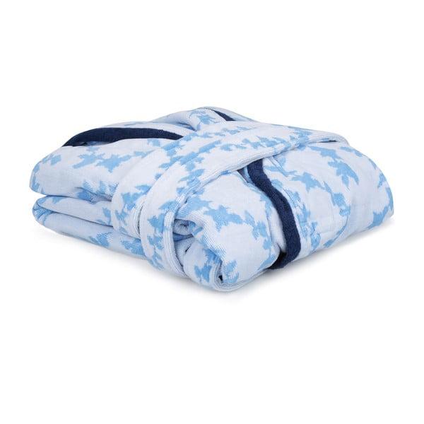 Niebiesko-biały szlafrok unisex Lerry, rozmiar L