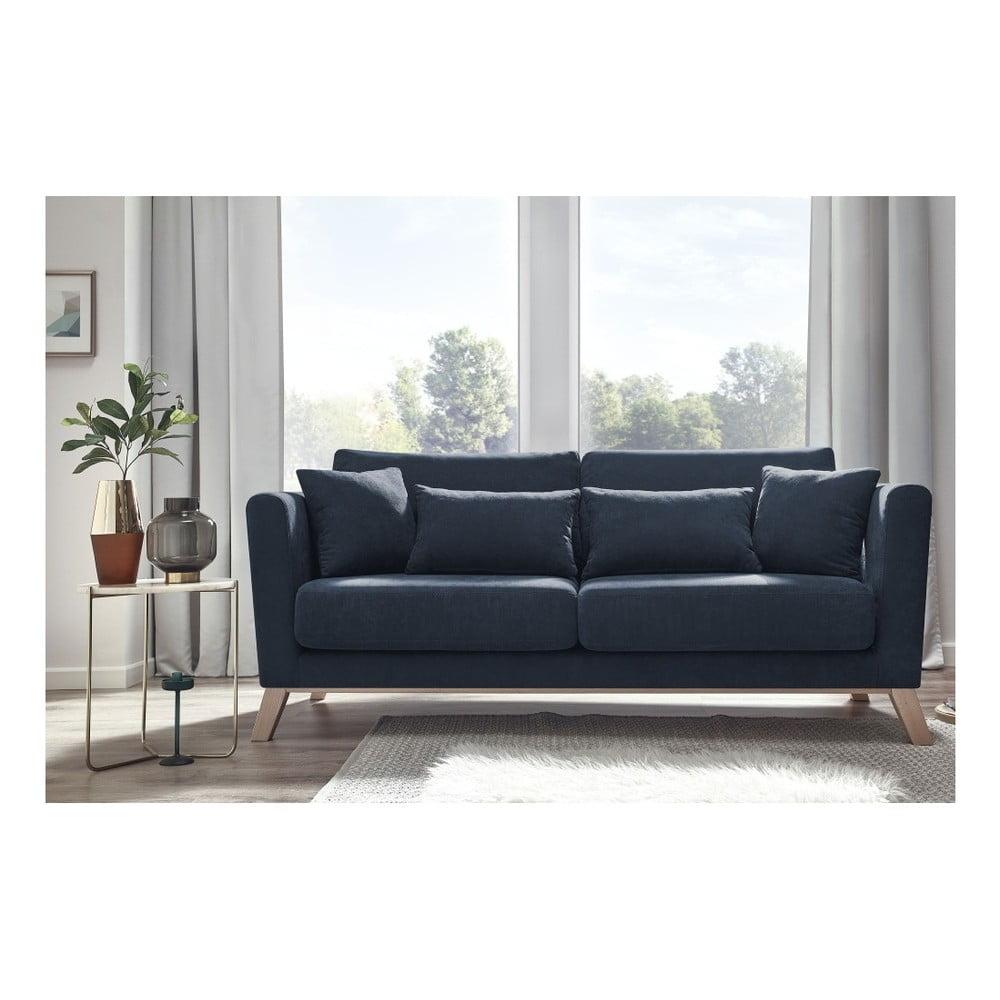 Ciemnoniebieska sofa 3-osobowa Bobochic Paris Doblo