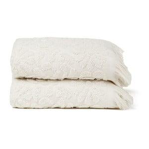Zestaw 2 ręczników Riad Face Sand, 50x90 cm