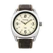 Zegarek męski Firetrap Gents Grey Canvas Strap/Cream Dial, 45 mm