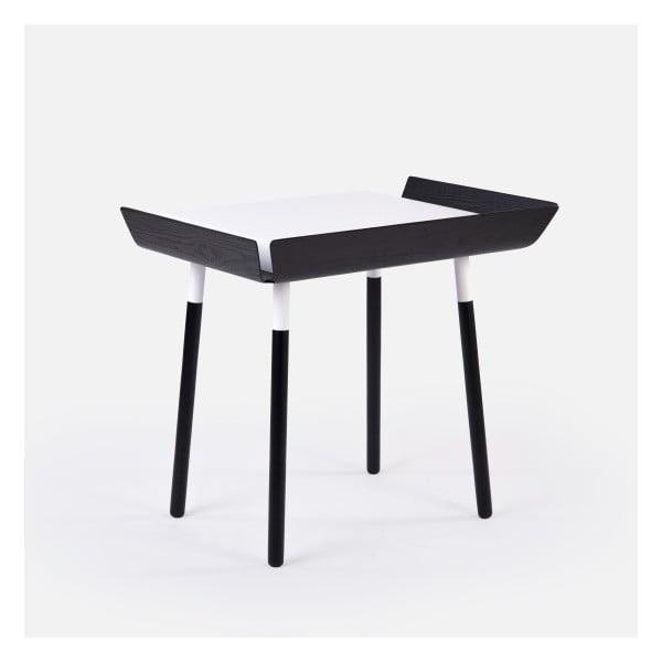 Czarno-białe   biurko z 1 szufladą EMKO My Writing