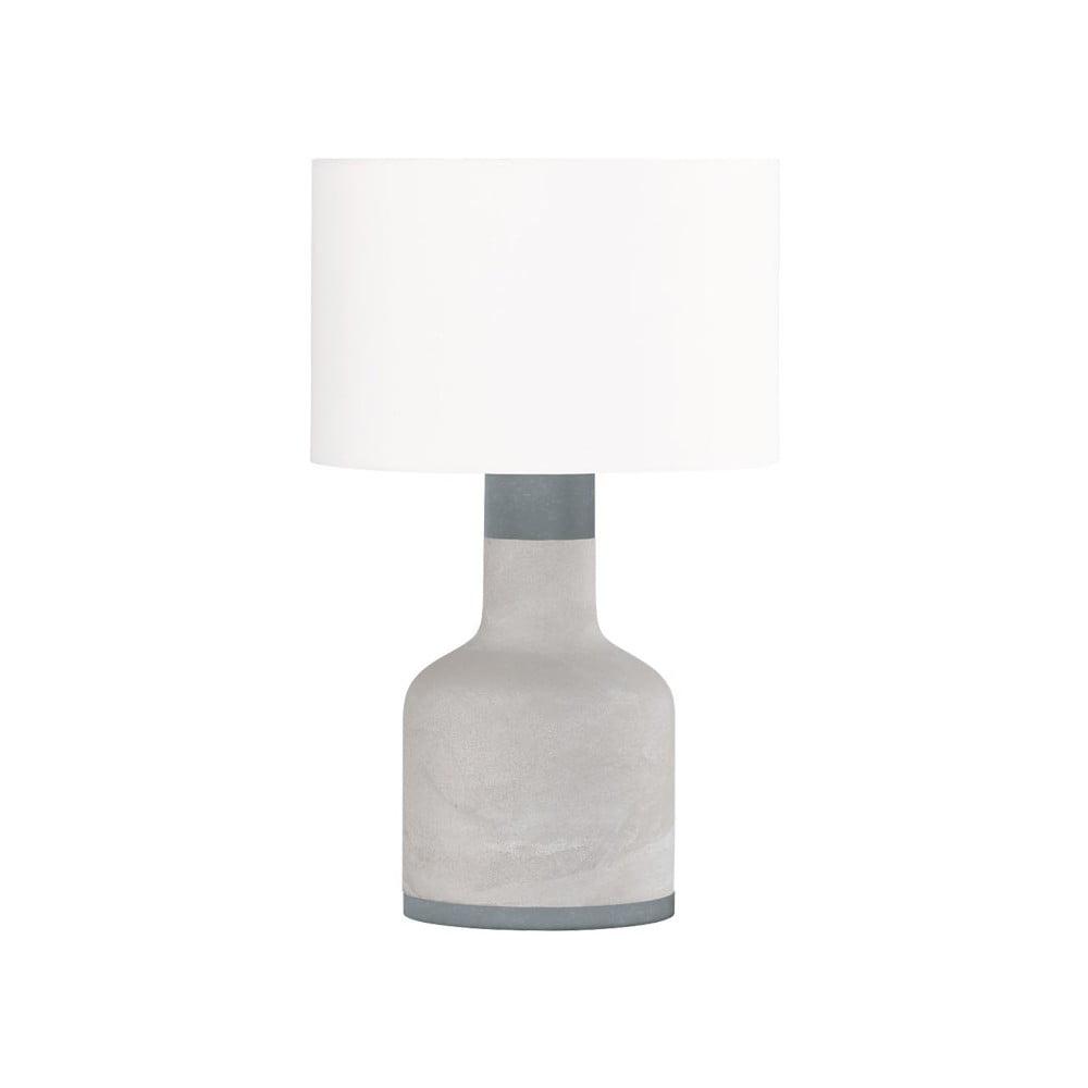 Szara lampa stołowa Trio Rodney, wys. 51 cm