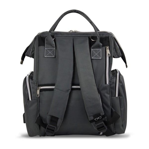 Antracytowy plecak dla mam z USB My Valice HAPPY MOM Baby Care Backpack