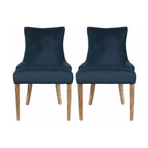 Zestaw 2 krzeseł Lester Dark Blue