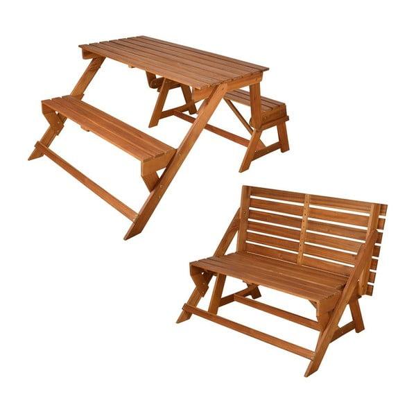Składany stół piknikowy z ławkami Chat