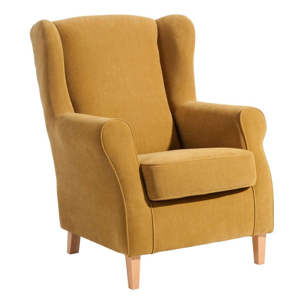 Żółty fotel Max Winzer Lorris