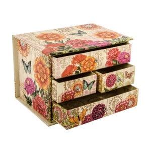 Pudełko z szufladkami Butterflies in Garden