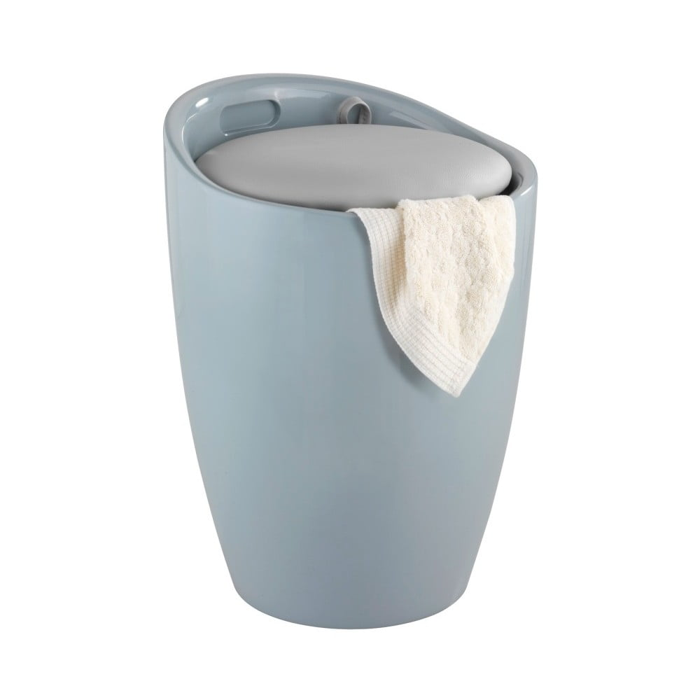 Szary kosz na pranie i taboret w jednym Wenko Candy Look, 20 l