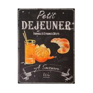 Tabliczka z blachy Antic Line Petit Déjeuner