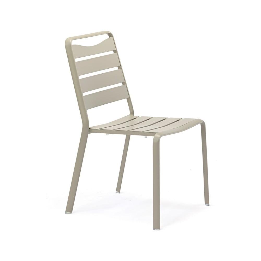 Zestaw 4 szarych krzeseł ogrodowych z aluminium Ezeis Spring