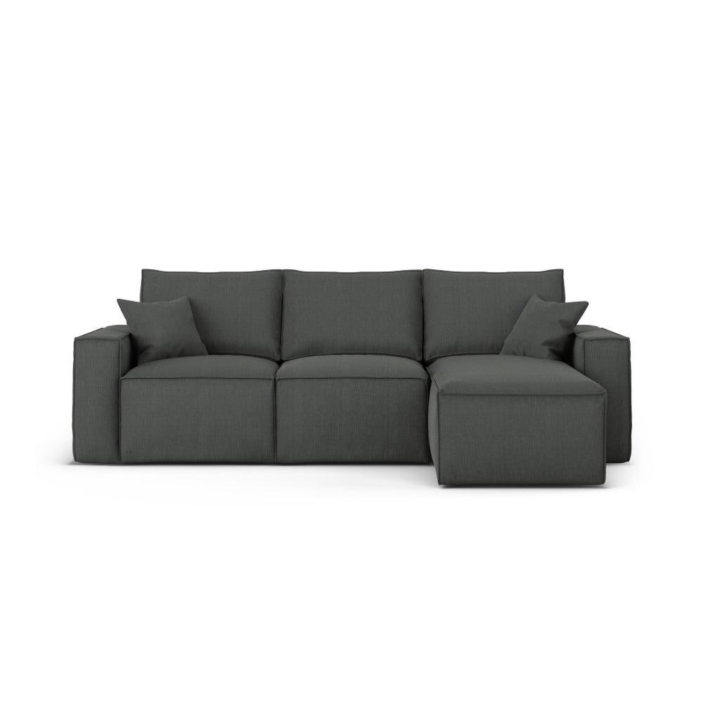 Ciemnoszara narożna sofa prawostronna Cosmopolitan Design Miami