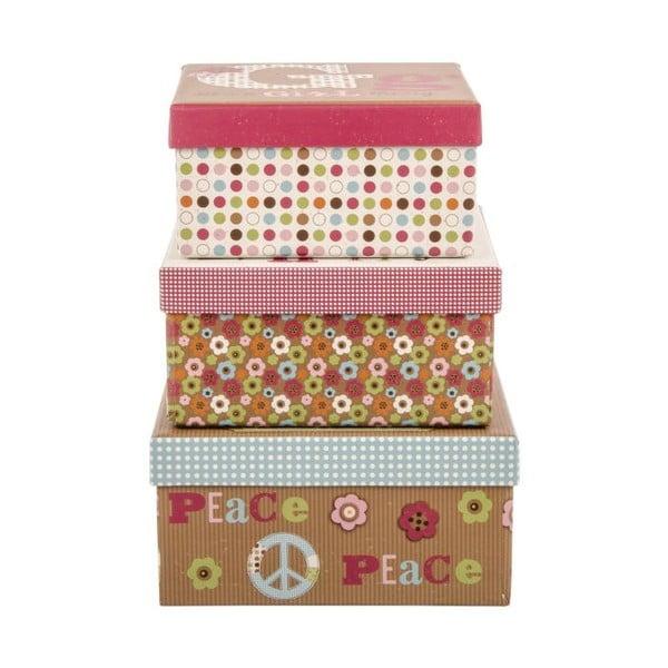 Zestaw 3 pudełek Peace