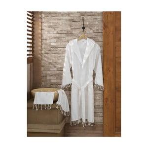 Komplet szlafroka i ręcznika Sultan White, rozmiar L/XL
