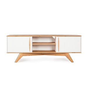 Szafka pod TV z drewna sosnowego Askala Maru, szer. 151 cm