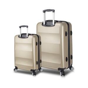 Zestaw 2 walizek na kółkach z USB w kolorze złota My Valice LASSO Cabin & Large