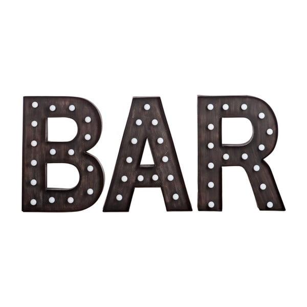 Świecący napis Bar
