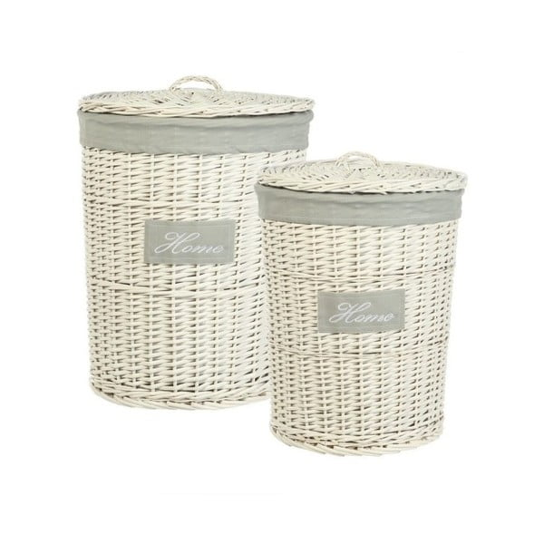 Komplet 2 wiklinowych koszyków Cosas de Casa Chic Home, jasne