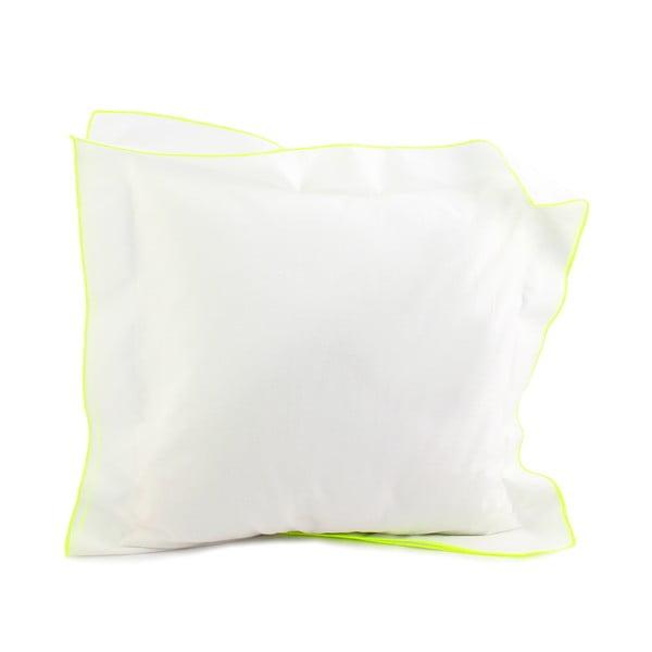 Poszewka na poduszkę Basic Fluor yellow, 40 x 40 cm