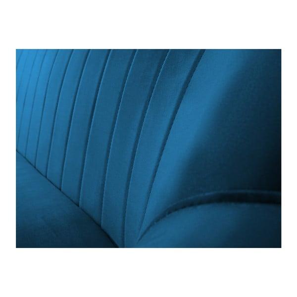 Niebieska sofa 3-osobowa z czarnymi nogami Mazzini Sofas Benito