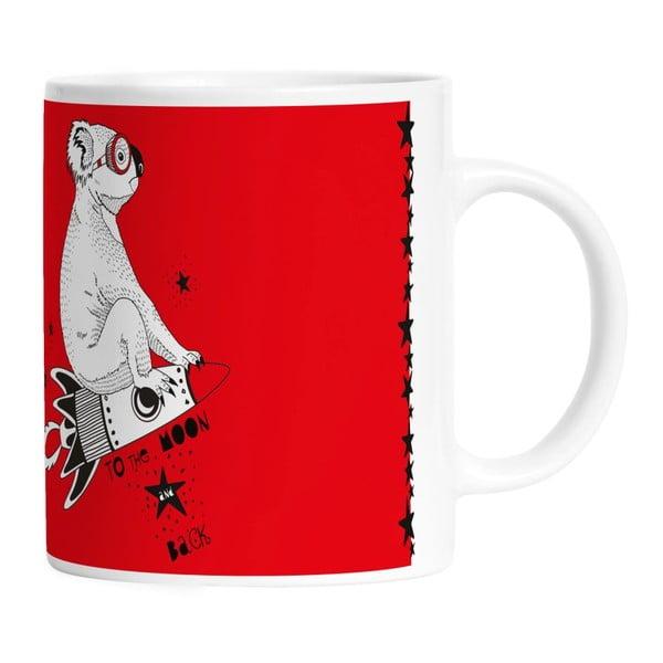 Ceramiczny kubek Koala With Rocket, 330 ml