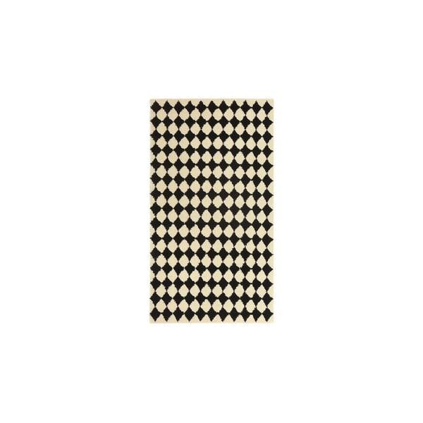 Dywan wełniany Oslo no.3, 140x200 cm, czarny
